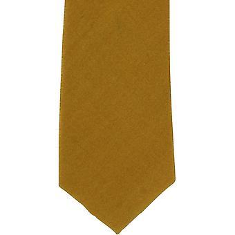 Michelsons Londyn zwykły wełna krawat - musztarda