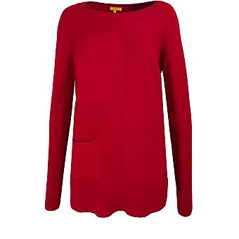 Yellow Label Red Knit Jumper
