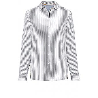 Bianca Patterned Back Striped Shirt