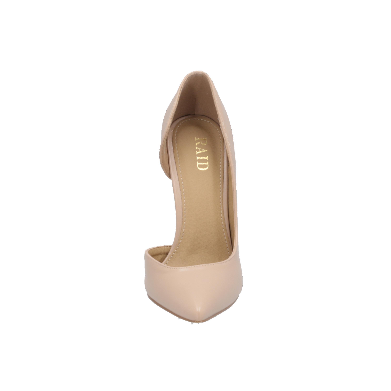 RAID KIANA-1 Damen Pumps Beige High-Heels Stilettos Absatz-Schuhe XzOCt