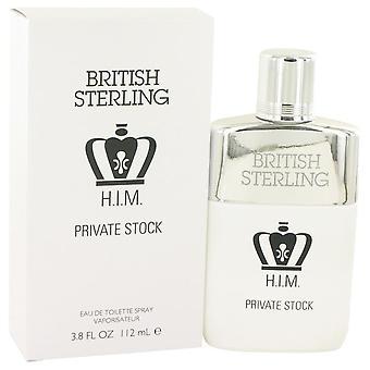 Brittiska Sterling honom privat lager Eau De Toilette Spray av Dana 3,8 oz Eau De Toilette Spray