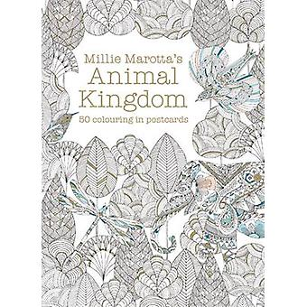 Millie Marottas Animal Kingdom Postcard Box  50 beautiful cards for colouring in by Millie Marotta