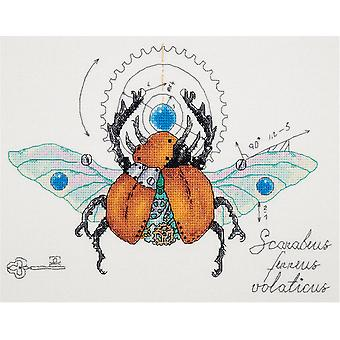 Panna Cross Stitch Kit : Clockwork Beetle