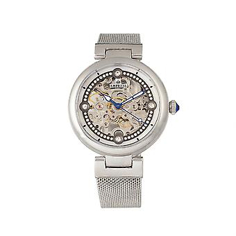 Keizerin Adelaide automatische skelet Mesh-armband horloge - zilver