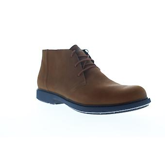 Camper Neuman  Mens Brown Nubuck Leather Mid Top Chukkas Boots