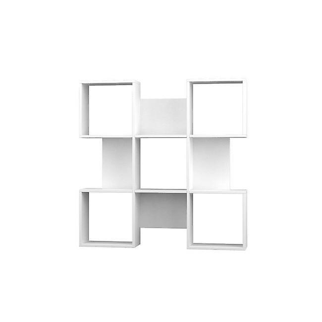 Libreria Quat Color Bianco in Truciolare Melaminico 120x20x120 cm