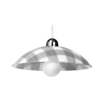Tela Pendant Light White / Gray Glass 1 Bulb