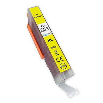 1 Gelbe Tintenpatrone ersetzt Canon CLI-551Y Compatible/Non-OEM von Go Inks