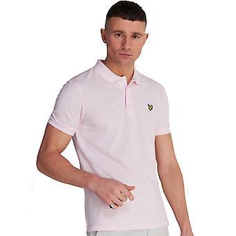 Lyle & Scott Mens Plain Short Sleeve Pique Polo Shirt
