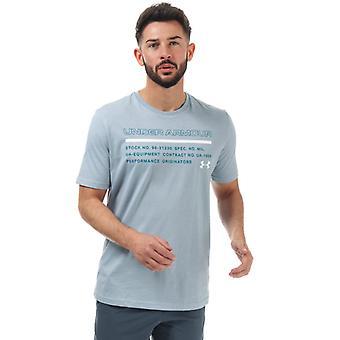 Menn's Under Armour UA Utstedt T-skjorte i blått