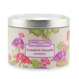 Carroll & Chan 100% Bijenwas tin kaars - Geraniol & Citronella (8x6) cm