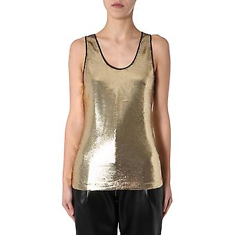 Philosophy By Lorenzo Serafini 080507440606 Women's Gold Polyester Top