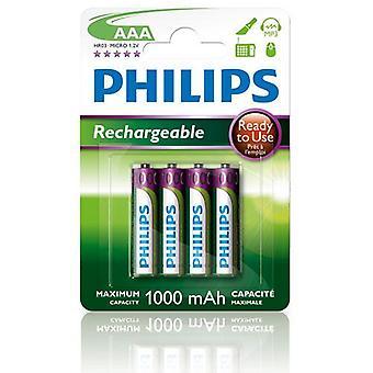 Laddningsbart batteri AAA 1000 mAh 4-pack