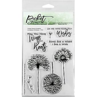 Picket Fence Studios Dandelion Wishes Clear Stamps
