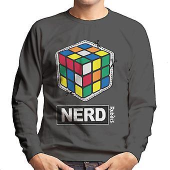 Rubik's Cube uitgesneden nerd mannen Sweatshirt