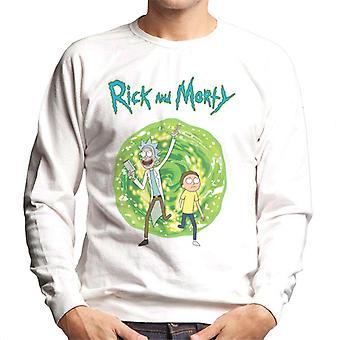 Rick og Morty går gennem portal mænd ' s sweatshirt