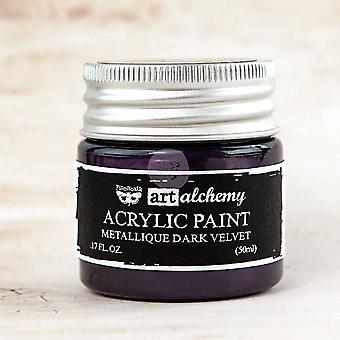 Finnabair Art Alchemy Acrylic Paint Metallique Dark Velvet