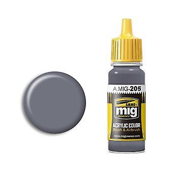 Ammo by Mig Acrylic Paint - A.MIG-0205 FS 26231 (BS 638) Medium Grey (17ml)