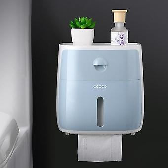 Portable Toilet Paper Holder Plastic Waterproof Paper Dispenser For Toilet Home
