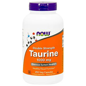 Nu voedingsmiddelen, Taurine, dubbele sterkte, 1.000 mg, 250 vegetarisch capsules