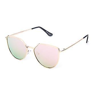 Solglasögon Unisex modern rosa/guld