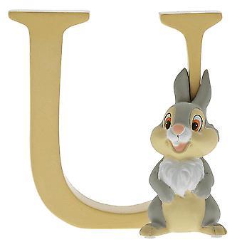 Disney Alfabetet Brev U Thumper Figur