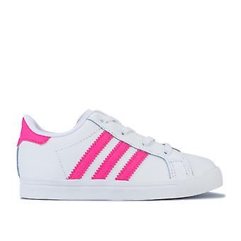 Girl's adidas Originals Infant Coast Star Trainers in White