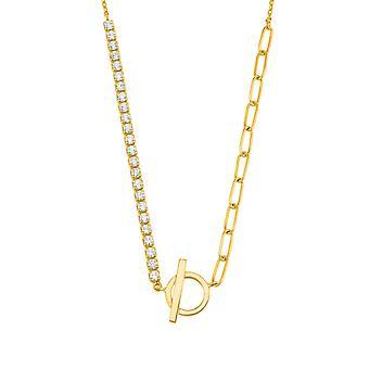 s.Oliver Jewel Damen Kette Halskette Silber Zirkonia Y-Collier 2028512