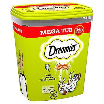 2 x 350g Dreamies Erwachsene Katze behandelt Tubs mit Thunfisch Katze Kekse (700g)