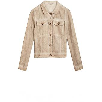 Sandwich Clothing Light Khaki Linen Jacket
