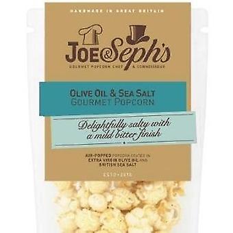 Olijfolie en zeezout popcorn