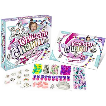 fablab craft in a box unicorn charm jewellery kit for ages 8 and above