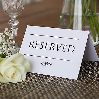 RESERVED SIGNS Set of 4 Traditional Style 2 A6 Size Wedding Event