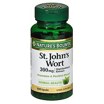 Nature's Bounty St. Johns Wort Herbal Supplement, 300 mg, 100 caps