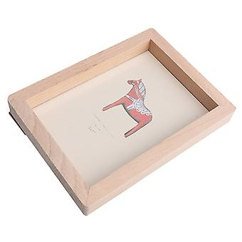 7inch Wooden Photo Concise Photo Frame Picture Holder Storage Decoration