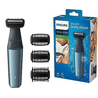 Philips Bodygroom 3000 Body-Friendly Body Razor se 3 zastřihovacími nástavci