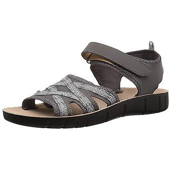LifeStride Womens Juno Fabric Open Toe Casual Slingback Sandals