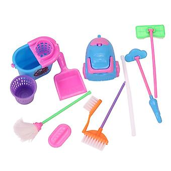Dolls Miniature Dollhouse Cleaning Brush Baby Toys-  Babie Accessories