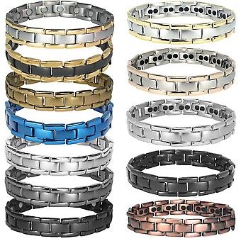 MPS® POLARIS Titanium Magnetic Bracelet, Usually purchased for Arthritis Pain Relief Health Magnet Therapy + Free Link Removal Tool