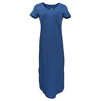 C. Wonder Dress (XXS) Essentials Knit Midi Heather Indigo Blue A289778