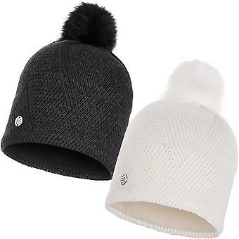 Buff Unisex Disa Fine Knit Fleece Lined Warm Winter Bobble Beanie Hat
