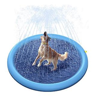 Homemiyn Outdoor Sprinkler Mat Kid Playing Water Pet Bath Mat