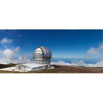Astronomie-Teleskop an der Küste Gran Telescopio Canarias Roque De Los Muchachos La Palma Kanaren Spanien Poster Print