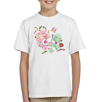 Care Bears Christmas Lotsa Heart Elephant Feestelijke Candy Kid's T-Shirt