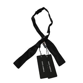 Black slim skinny men necktie 100% silk tie