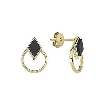 Onyx Stein Gold Ohrringe