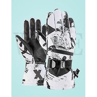 Winter Snowboard Ski Gloves - Leather Non-slip Motorcycle Cycling Fleece Warm