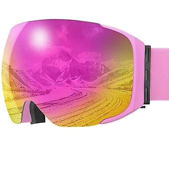 Lunettes Magnetic Winter Anti-fog Double Layer Snowboard, Men & Women Protective