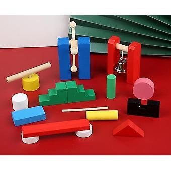 Uudet wood blocks kit pelit lapsille