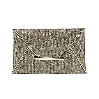 Frauen Abend Tasche Beutel Pailletten Umschlag, Handtasche funkelnd, Party solide